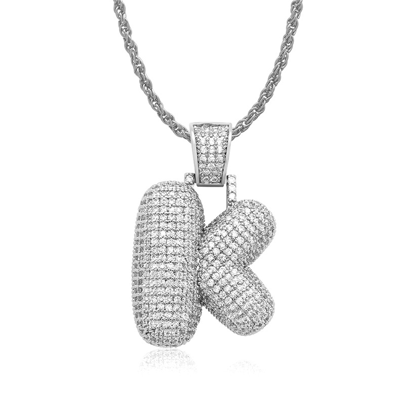 Detail Feedback Questions about OMYFUN Factory Price Fashion Letter K  Necklace with CZ Iced Out Initial Pendant Bijoux Hip Hop Bling Men Jewelry  Free ...