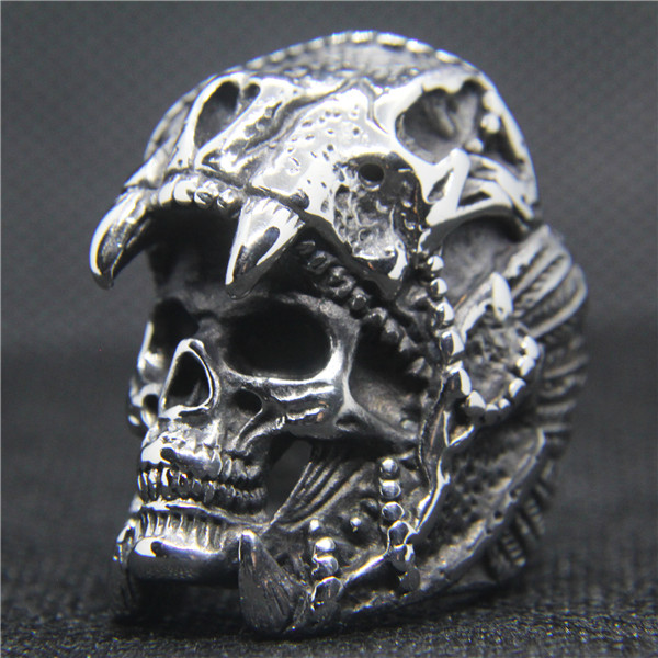 Quality TTstyle THICK 316L Stainless Steel Black Iron Cross Ring Choose Size