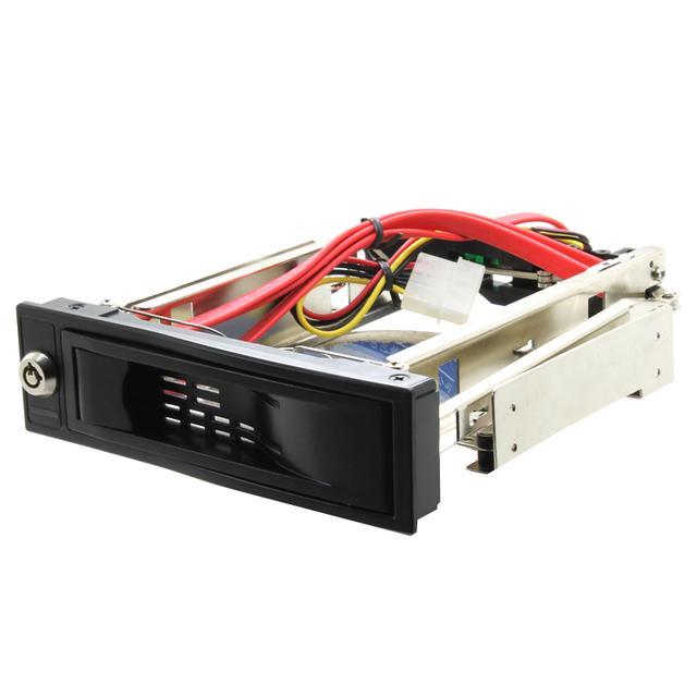 """Rack Móvil de DISCO DURO Interno de 3.5 """"HDD Recinto con Cerradura Para CD/DVD-ROM SATA Espacio 7 + 15pin envío gratis"""