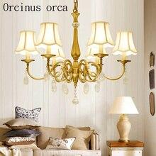 Amerikanischen stil garten kristall kronleuchter wohnzimmer schlafzimmer esszimmer Europäischen moderne einfache nachahmung kupfer kronleuchter