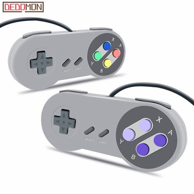 Jogo USB Controlador de Jogo Joystick Gamepad Controlador para Nintendo SNES Game pad para PC Windows MAC Controle de Computador Joystick