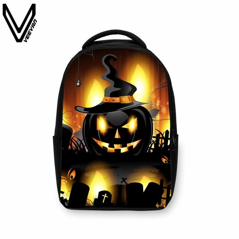 2019 nouveauté crâne de feu sac à dos Halloween citrouille lanterne impression 3D sac à dos de bande dessinée sacs à dos d'école pour les adolescents