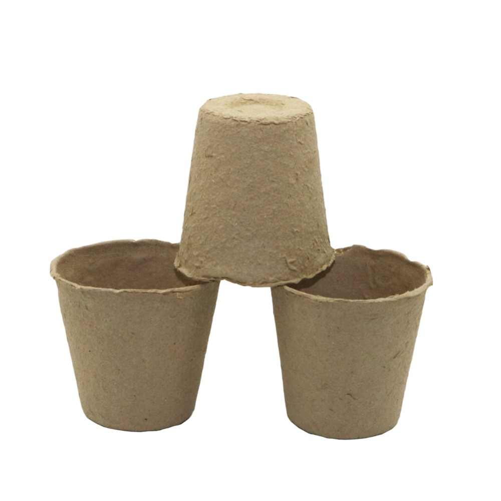 20 Pcs Round Pulp flower pot Peat Pots Plant Seedling Cultivate Cups Nursery Herb Seed Biodegradable Pots Gardening supplies