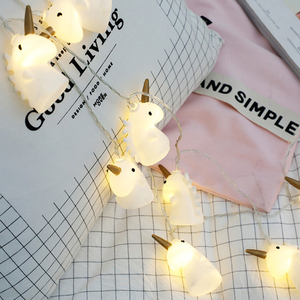 Image 2 - ユニコーン光文字列クリスマスライト Led 花輪クリスマスランプ子供の夜のランプユニコーンルミナリーホーム LED ライトの装飾