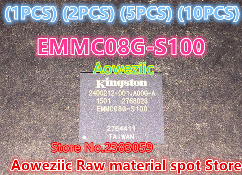 Aoweziic  (1PCS) (2PCS) (5PCS) (10PCS) 100% new original  EMMC08G-S100-A06  BGA  8GB EMMC   Memory chip    EMMC08G-S100 1pcs 2pcs 5pcs 10pcs 100% new original klmdgageac b001 bga 128gb emmc tablet or mobile storage chip klmdgageac b001