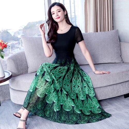 YICIYA Green Dress Women Plus Size Boho Bohemia BIG Dresses Woman Party Night chiffon xxxl Elegant Vintage Summer 2019 Clothing in Dresses from Women 39 s Clothing