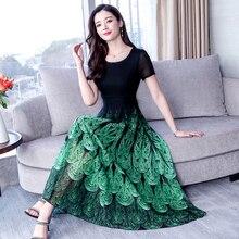 YICIYA Green Dress Women Plus Size Boho Bohemia BIG Dresses Woman Party Night chiffon xxxl Elegant Vintage Summer 2019 Clothing