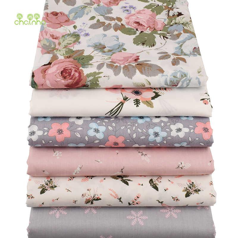 Chainho 、 6 ピース/ロット新花シリーズツイルコットン生地、パッチワークの布、 diy の縫製キルティング脂肪四半期素材ベビー & 子供