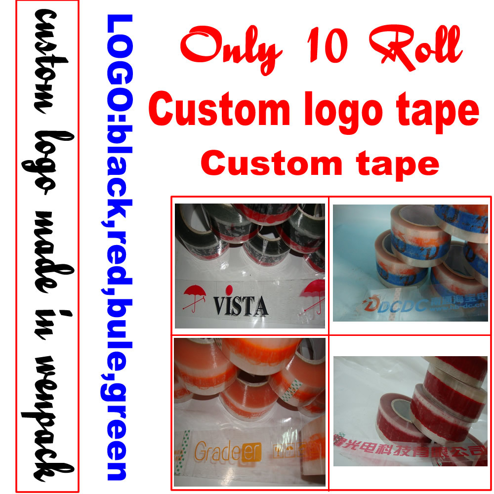 custom printed logo gift adhesive tape 45mm x100M printed company name clear sealing tape for packaging