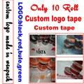 custom printed logo gift adhesive clear packaging sealing tape