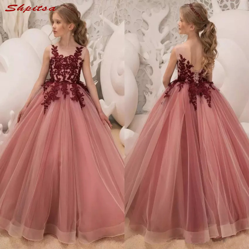 Lace   Flower     Girl     Dresses   for Weddings Party Evening Flowergirl First Communion Pageant   Dresses   for Wedding   Girls   2018