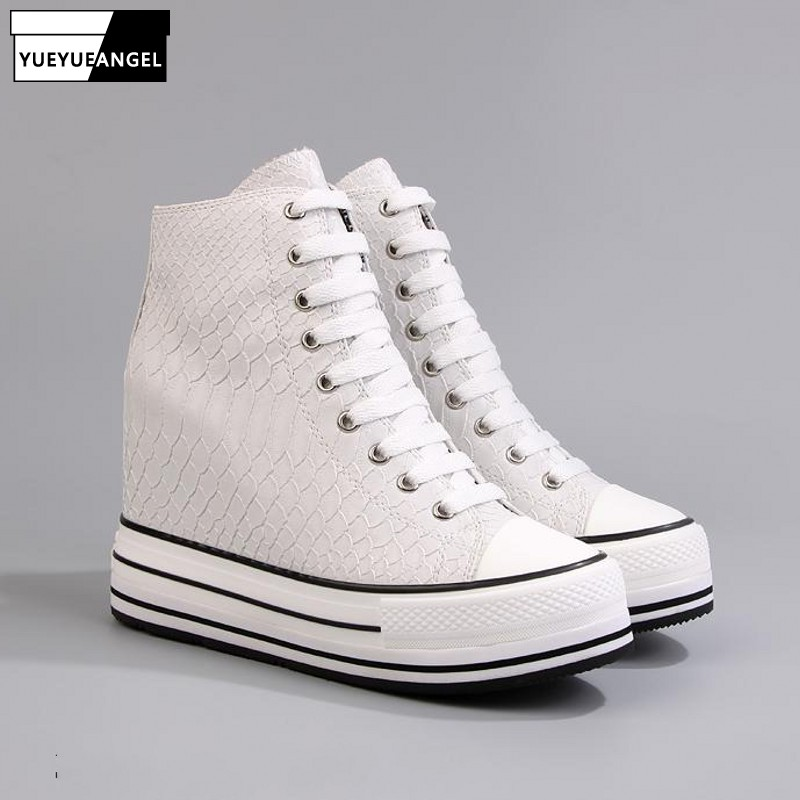 Vogue New Peak Rising Sneakers Lady Luxurious Snake Printed Excessive Prime Footwear Lace Up Thick Platform Informal Sneakers White Aliexpress, Aliexpress.com, On-line purchasing, Automotive, Telephones & Equipment, Computer systems...