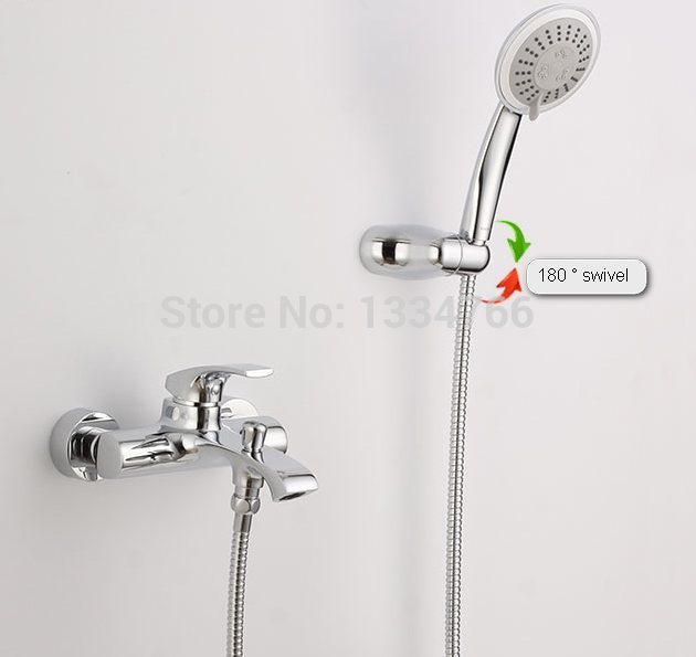 wall mounted tub faucets exposed bath & shower set bathroom mixer ...