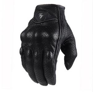 Мотоперчатки для мотоцикла мото перчатки Перфорированные мотоциклетные перчатки из натуральной кожи в стиле ретро. Водонепроницаемые мотоциклетные перчатки. Защитные мотоциклетные перчатки. Перчатки для мотокросса - Цвет: perforation