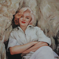 Wholesale Sexy Star Marilyn Monroe Oil Painting On Canvas Hot Movie Star Marilyn Monroe Abstract Portrait Oil Paintings