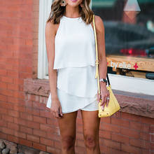 0afa69ae1ca Fashion Casual Womens Ladies Playsuits Holiday Mini Playsuit Jumpsuit  Rompers Summer Beach Shorts White Yellow Red