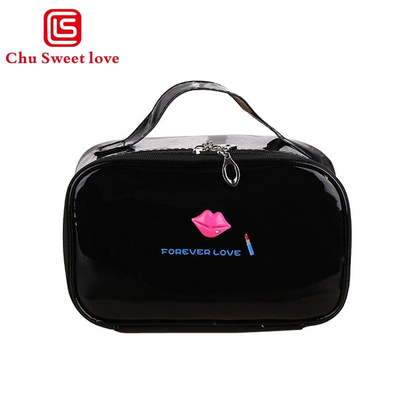 Cosmetic Box Female Lips Small Square Bag WomenS Large Capacity Storage Handbag Travel Toiletry Makeup