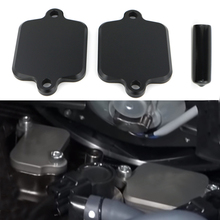Smog Block Off Plates Cover For Yamaha YZF R1 YZF R1M YZF R1S YZF R6 YZF R6S FZ1 / FZ1 Fazer  FZ6R/ FZ6 Fazer 600 FZ8 FZ10 MT-10 все цены