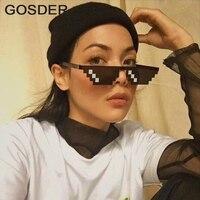 454ce91749 Gafas de 3/8 bits pixelada gafas de sol para hombres mujeres marca Thug Life
