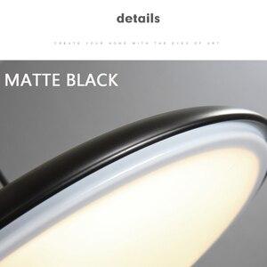 Image 5 - Современный художественный дизайнерский светодиодный подвесной светильник НЛО, Подвесная лампа с круглой пластиной для столовой, гостиной, спальни, стола, кабинета, подвесной светильник