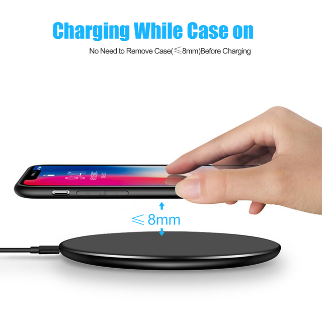 Qi Wireless Fast Desktop Wireless Charger 5V Ultra-light Charging Pad