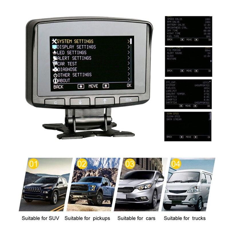 ATOOL X50 PRO OBD2 Exibição Speedmeter Scanner Auto Aviso de Velocidade de Consumo de Combustível Temperatura Da Água Medidor de Dados On-board Computer
