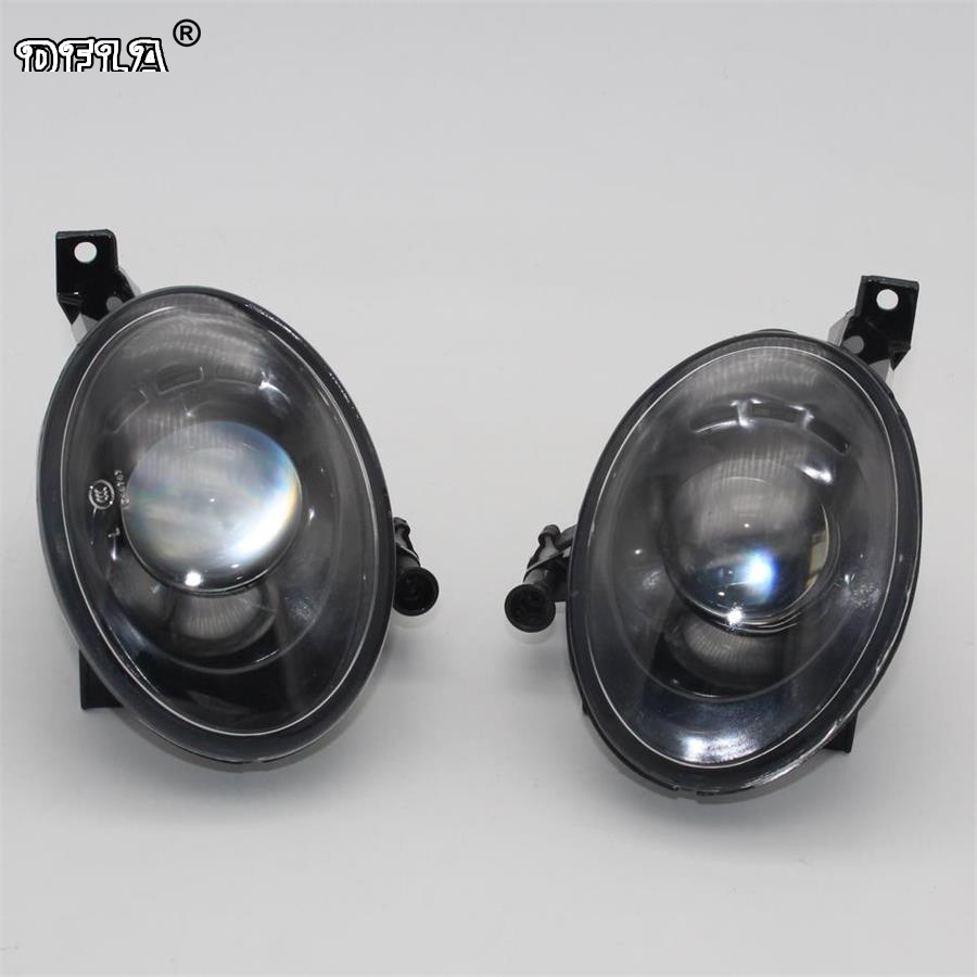 2pcs Car Light For VW Tiguan 5N2 2012 2013 2014 2015 2016 2017 Car-styling Front Fog Light Fog Lamp With Convex Lens car light car styling for vw polo vento sedan saloon 2011 2012 2013 2014 2015 2016 halogen fog light fog lamp and wire
