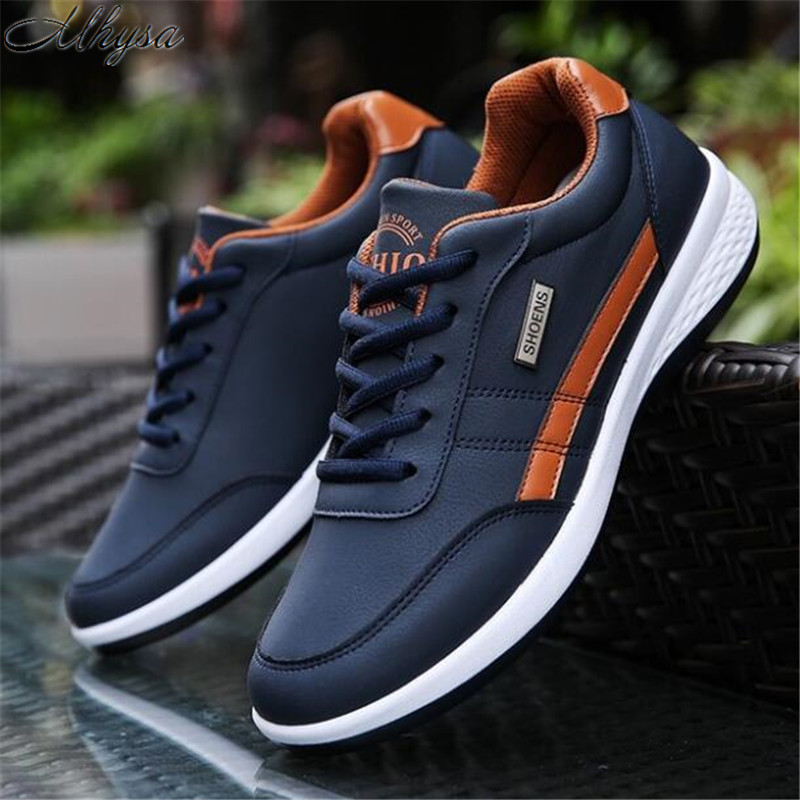 Mhysa 2019 The New Spring And Autumn Sports Shoes Lightweight Men's Fashion Casual Shoes Lace Slip Outdoor Climbing Shoes L130