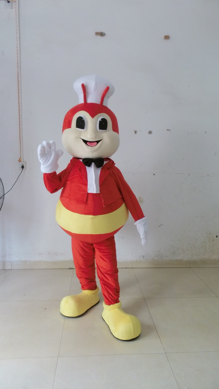Costume abeille rouge dessin animé mascotte costume livraison gratuite