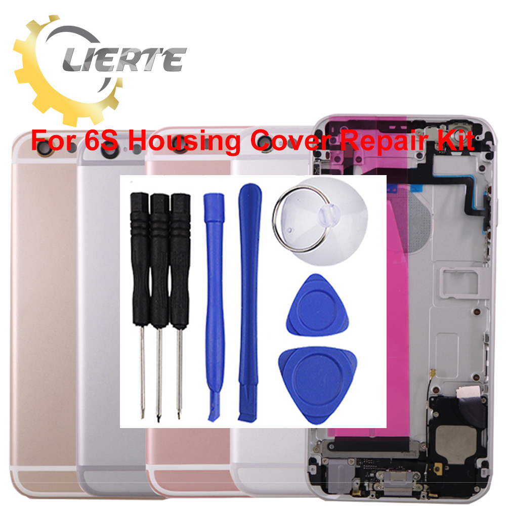 Torx Screwdriver Repair For IPhone 6S 6GS Frame Bezel Chassis Back Full Housing Battery Door Rear Cover Body With Flex Cable ia73 original chassis middle housing frame for iphone 4 silver