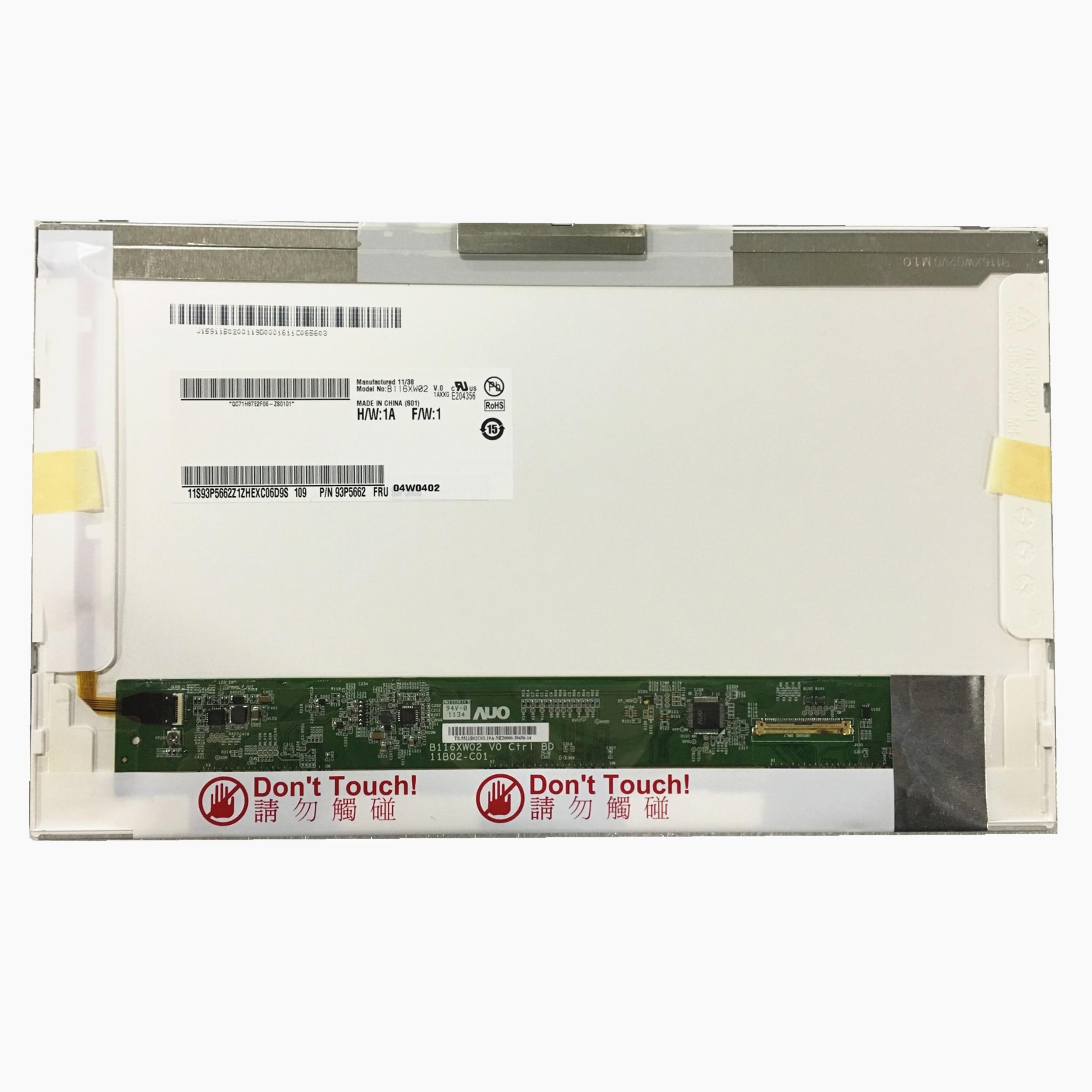 Free Shipping B116XW02 V.0 LTN116AT01 CLAA116WA0A LP116WH1-TLN1 TLP1 Laptop LCD Screen For IBM X100 U150 U121 P3010 S205