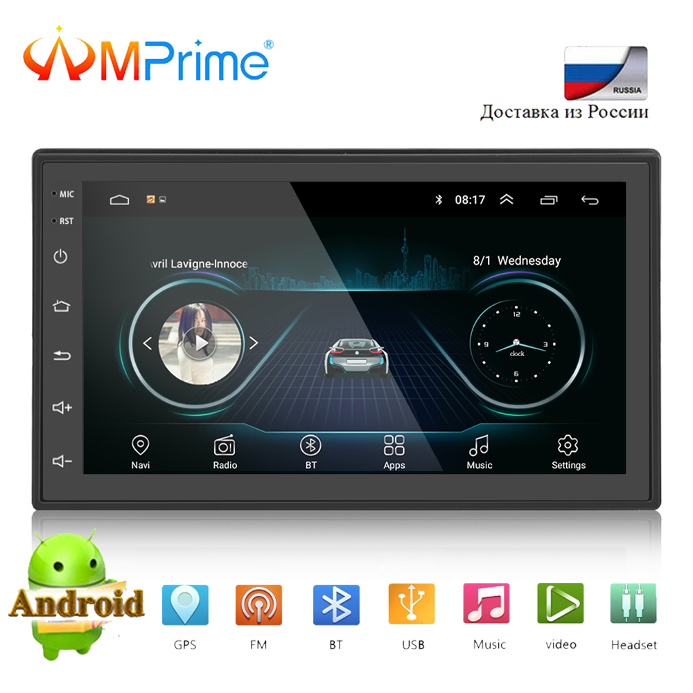 AMPrime Universal 2 Din Car Radio Android GPS Navigation Car Multimedia MP5 Bluetooth Touchscreen Wifi Car Audio Stereo FM/USB