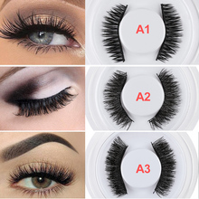 a7be11ce736 SKONHED 1 Pair Top 3D Magnetic False Eyelashes Reusable Eye Lashes Magnet