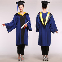 Unisex Academic Dress Bachelor Clothing university Agricultural Science Technology Graduation Gown Caps male Graduate uniform 89