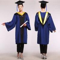 Unisex Academic Dress Bachelor Clothing university Agricultural Science Technology Graduation Gown Caps male Graduate uniform 89