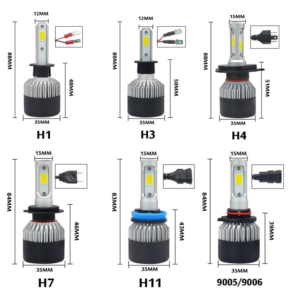 2 τεμ. H7 Led H4 H1 H3 H11 H8 H9 9005 HB3 9006 HB4 - Φώτα αυτοκινήτων - Φωτογραφία 6