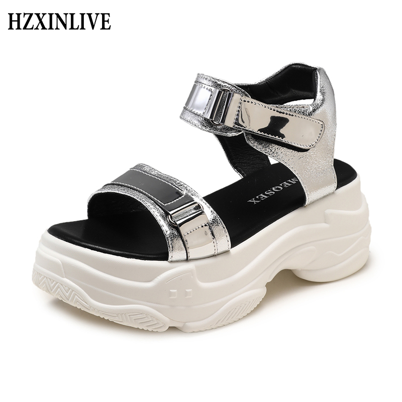 HZXINLIVE Ladies Sandals 2019 Summer time Platform Sandals Wedges Footwear Chunky Open Toe Excessive Heels Flip Flops Sandalias Mujer 2019 Excessive Heels, Low-cost Excessive Heels, HZXINLIVE Ladies Sandals 2019...
