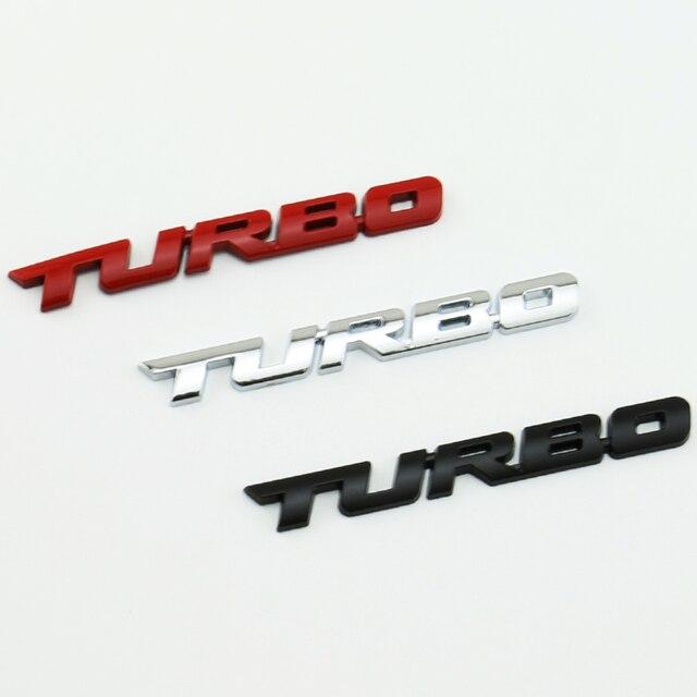 10x universal black red sliver 3d turbo car body rear tailgate