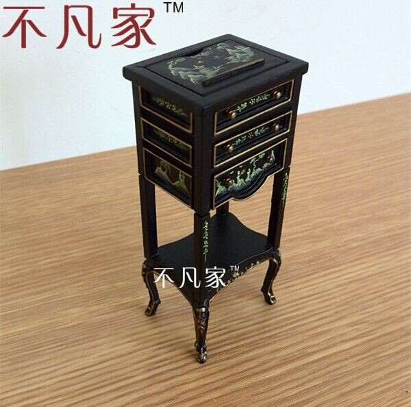 Dollhouse 1:12 Scale Special Offer Fine Miniature Furniture Black Painted Cabinet