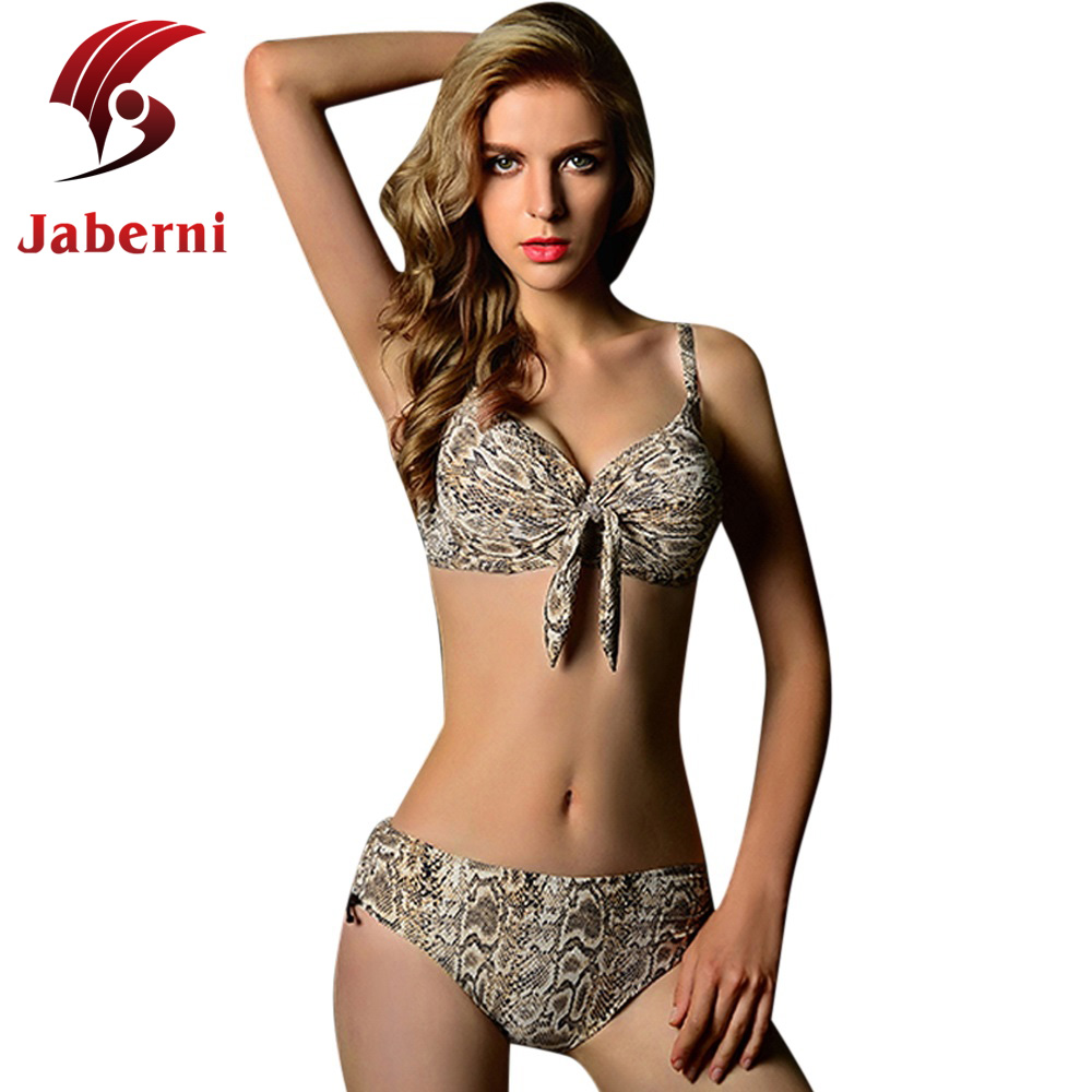 Biquini Snake Crazy Sexy Women Leopard Strappy Swimsuit