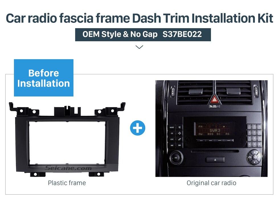 Seicane 2DIN Radios montaje kit Marcos placa instalar panel para ...