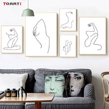 Minimalist Canvas Painting Women Body Line Drawing Poster And Prints Modular Wall Picture Abstract Home Decor Wall Art Murals(China)