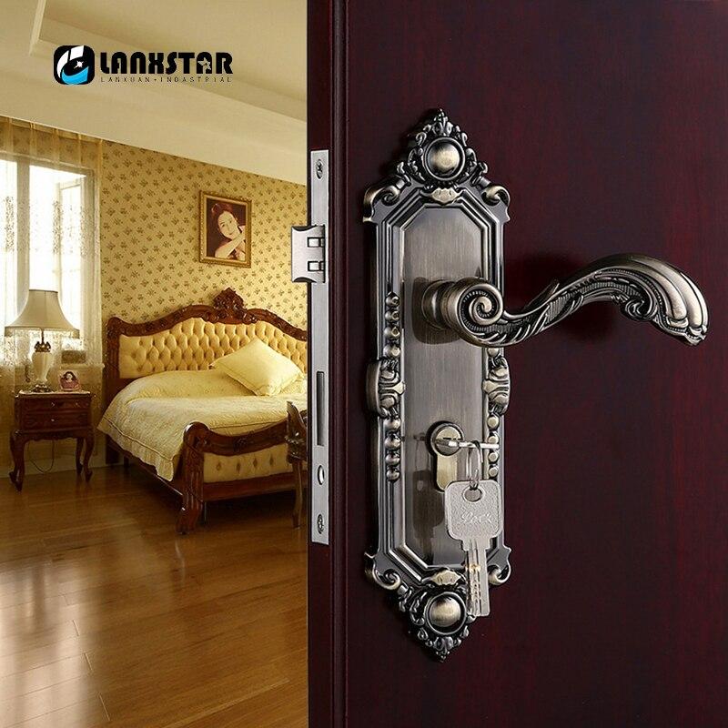 Lanxstar Bronze Stil Einfache Antike Solide Schloss Schlafzimmer ...