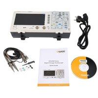 OWON SDS1102 двойной канал ЖК дисплей супер тип экономии цифровой запоминающий осциллограф, осциллоскоп измеритель диапазона 100 МГц 1GSa/s