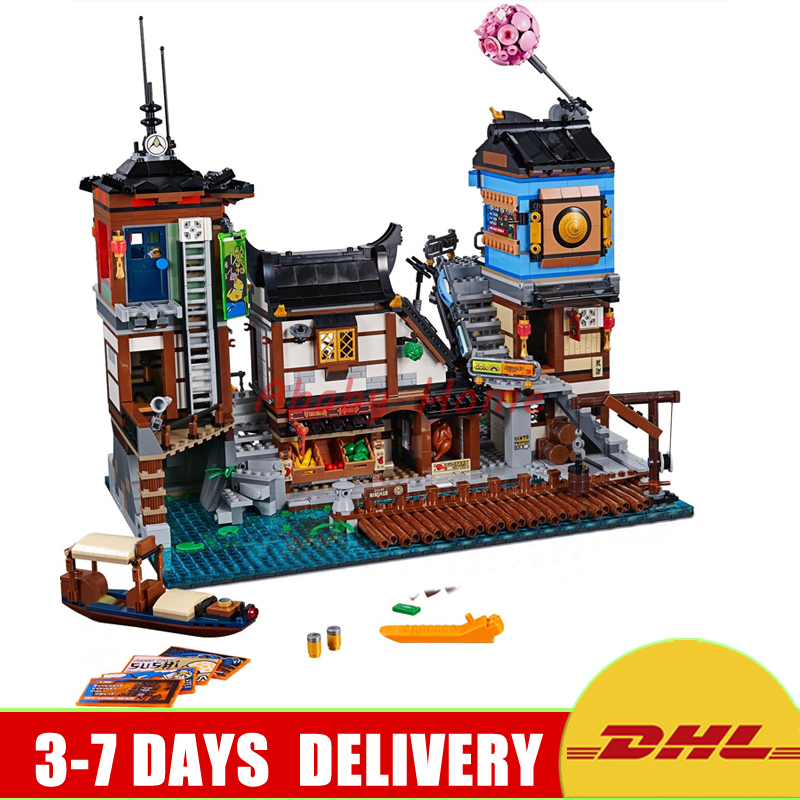 2018 New Lepin 06083 3979Pcs Building Series 70657 City Docks Set Building Blocks Bricks New Kids Toys Collectible Toys Gift lepin 16001 4705pcs city street series ghostbusters firehouse headquarters building block bricks kids toys for gift 75827