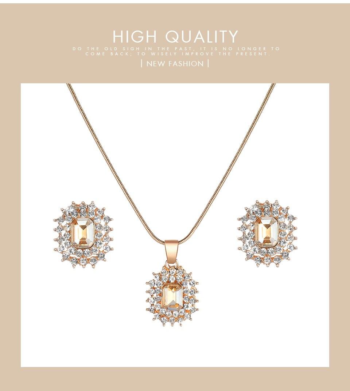_04 Montres cristal bijoux ensemble pour femmes