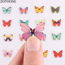 ZOTOONE DIY Buttfly Wood Button For Clothing Scrapbooking Accessories Handmade Wooden Snap Buttons Mix Sewing Supplies Wholesale