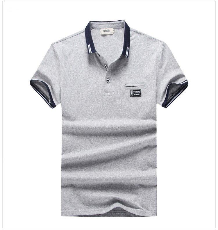 Courtes Casual Bleu gris Vente En Coton Chaude Nouveau Pcs Printemps Jeunes Pur lot blanc Et Vêtements Polo Chemises Revers 10 Hommes Manches Été x1PARTwPq
