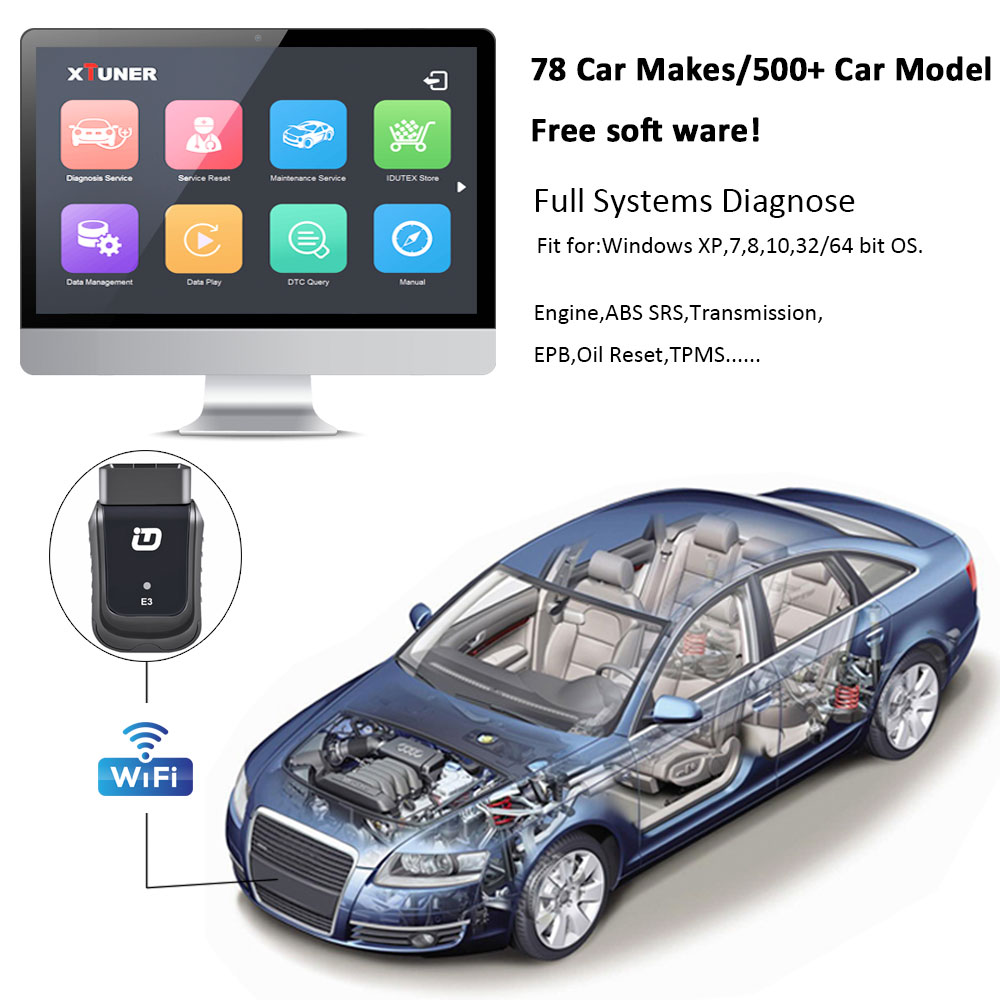 Image 5 - XTUNER E3 V10.7 Scanner OBD2 WiFi Full Systems Diagnostic Tool Auto Scanner for Diag/EXP/Main Service Battery DPF Reset-in Engine Analyzer from Automobiles & Motorcycles on