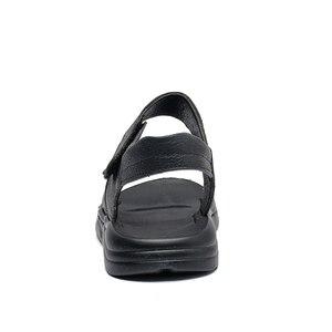 Image 3 - Duże chłopcy czarne skórzane sandały plażowe sandały dzieci formalne buty buty szkolne dzieci jakości letnie buty open toe 26 37, 3 paski,
